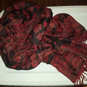 Beautiful Scarf/Wrap with Fringe Ends